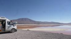Service an der Laguna Colorada