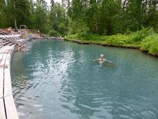 Die Hot Liat Springs sind naturbelassen - und sehr heißßßß!