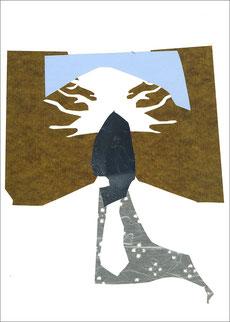 Fuji, 2013, Scherenschnitt, 21 x 29,7 cm