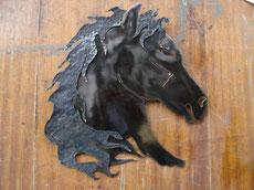 tête de cheval encolure animal fer forge bormes les mimosas lavandou hyères toulon var ferronnerie art ferronnier forgeron by thibault KLUKASZEWSKI with forge et style
