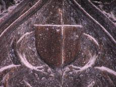 Vantail de droite - Probablement les armes d'Henri d'Avaugour, prédécesseur de Jean Cœur