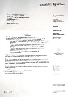 Staatliche Fortbildungsstätte Reinhardtsgrimma Leiter Dr. Bergmann