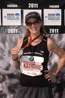 Kathrin beim Berlin Marathon 04:36:32h