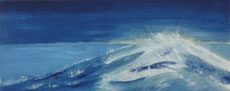 Welle Öl auf Aquarellpapier