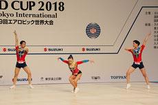 AG2トリオ4位の(左から)河合 翔(ジムナ)、金子実楓、萩本祥陽