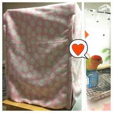おやすみカバー(お休みカバー、手作り、ケージカバー、遮光カバー、サークルカバー)お客様の写真
