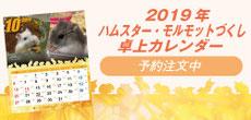 2019 ハムスター・モルモットづくし卓上カレンダー