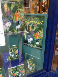 First window display for The Secrets of Grindlewood
