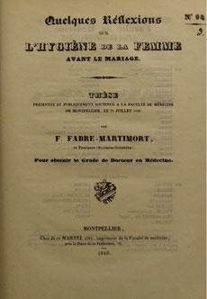 Thèse F. Fabre-Martimort 1840