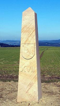 Obelisk 17:00 Uhr, Wappen Hirschhorn