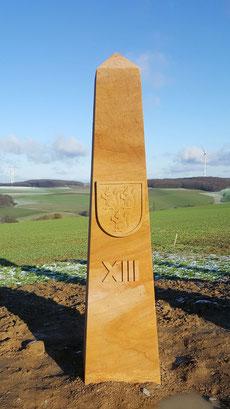 Obelisk 13:00 Uhr, Wappen Otterberg