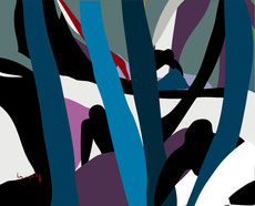 Tableau en reproduction numérique créer par JC Le Gall, artiste peintre contemporain.