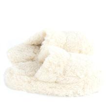chaussons mules en laine naturelle mouton dessous cuir peau only mouton adulte savate pantoufles blanc beige homme femme
