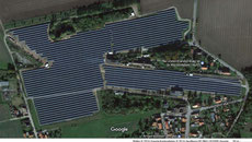 Luftbild Freiflächensolarpark 9,2 MW