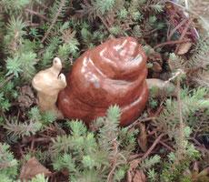Keramik Schnecke frostfest Unikat