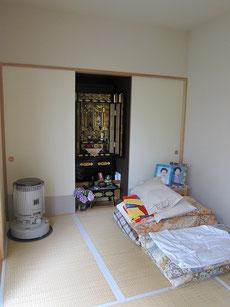 居間の隣の小さな和室が今は赤ちゃんのお昼寝部屋になっています。