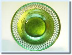 七宝焼きで出来たとてもグリーンがきれいな受け皿