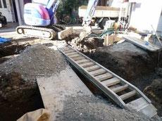 地盤改良工事 砕石
