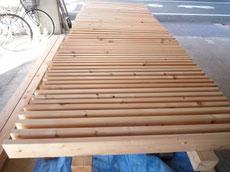 木製デッキの塗装1