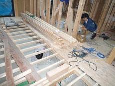 床暖配管工事1
