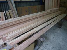 杉の窓枠加工1