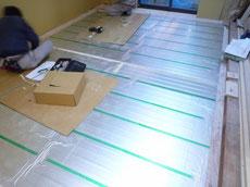 ガス床暖房施工2