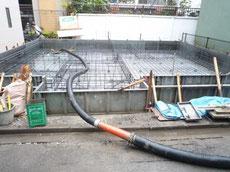 中央区ベースコンクリート打設