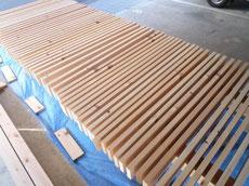 木製デッキの塗装2