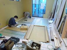 ガス床暖房施工1