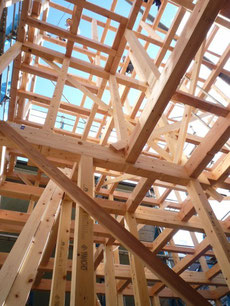 中央区 木造耐火上棟6