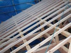 屋根垂木施工2