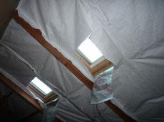 遮熱シートタイベックシルバーの施工1