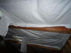 遮熱シートタイベックシルバーの施工2