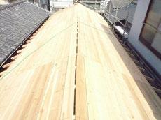 切妻屋根施工2