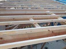 屋根垂木施工1