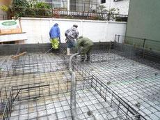 中央区ベースコンクリート打設2