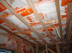 天井断熱材施工1