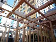 中央区 木造耐火上棟4