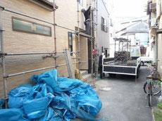 足場の解体作業2