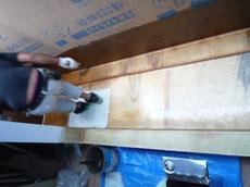 バルコニー防水FRP防水塗布