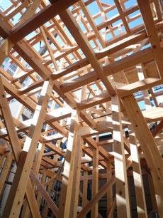 中央区 木造耐火上棟5