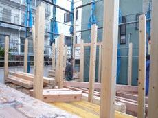 中央区 木造耐火上棟2