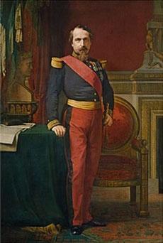 """Napoleon III Kaiser der Franzosen in den """"Tuileries""""in Paris"""