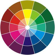 Le cercle chromatique cachadartsplastiques for Cercle de couleur chromatique