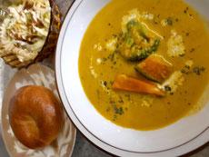日替わりスープセット       (お好きなパン1個、サラダ)