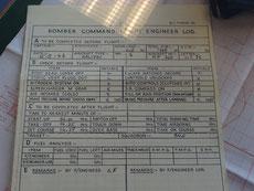 Cheek list du mécanicien navigant sur Halifax