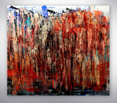 abstraktes Bild, Silber, Blau, gespachtelt, abstrakte Kunst, Gemälde Original, Unikat, gespachtelt,