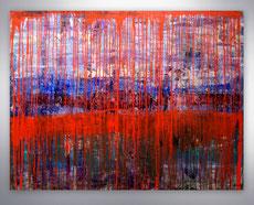 Gemälde abstrakt, Wald, Stimmungsbild, gespachtelt, Originalbild, handgemalt, Bäume, Landschaft, Abstrakte Malerei, Kunst,