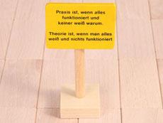 Holzspielzeug Beck Praxis Schild