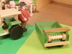 Holzspielzeug-Beck Dungschleuder für den Holz Traktor